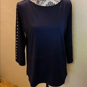 NWOT Susan Graver three-quarter sleeve pull over